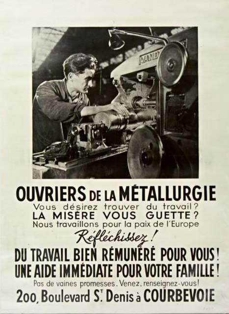 Affiche Métallurgie - 1941 © BNF