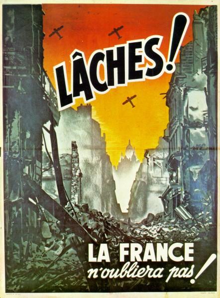 Affiche de propagande de Vichy contre les bombardements © Archives départementales de la Savoie - Coll. Aimé Pétraz
