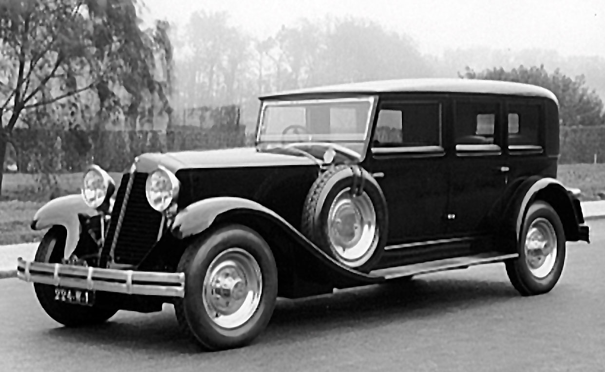 Figure.9: L'élégante Reinastella 8 cylindres limousine de 1928 © SHGR/Renault
