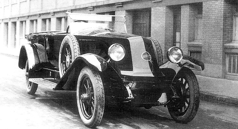 Figure.4: Le capot profilé de 1923 © SHGR/Renault