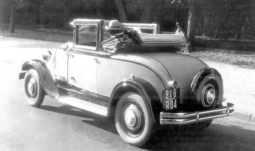 Figure.6: Monastella cabriolet, voiture considérée comme féminine © SHGR/Renault