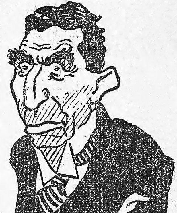 Caricature de Louis Renault, L'Humanité du 4 janvier 1932