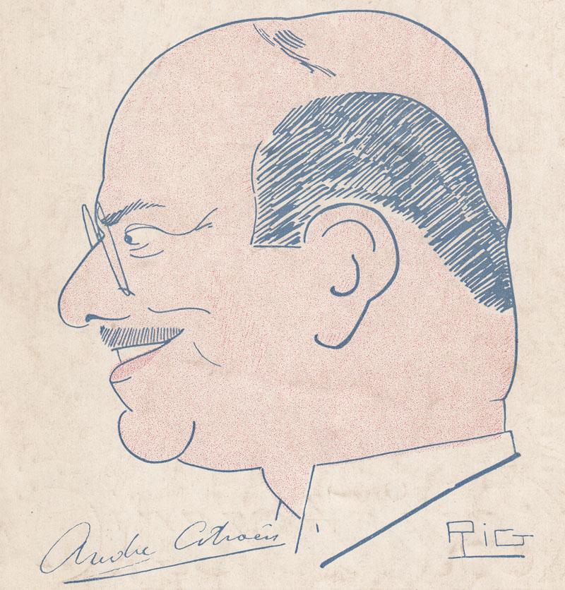 André Citroën, par Rig de Sonay © papiers de Mme Barbara Gallant, née Guillelmon