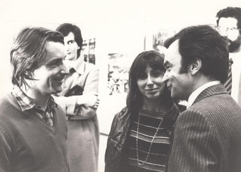 Rétromobile 1981 : Claude Le Maître (à droite) en conversation avec René Arnoux (pilote F1 - à gauche) © Archives privées Le Maître - Droits réservés