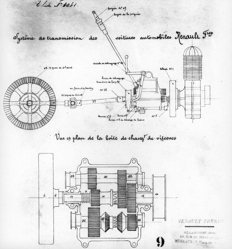 Etude de la transmission par prise directe © Renault Histoire