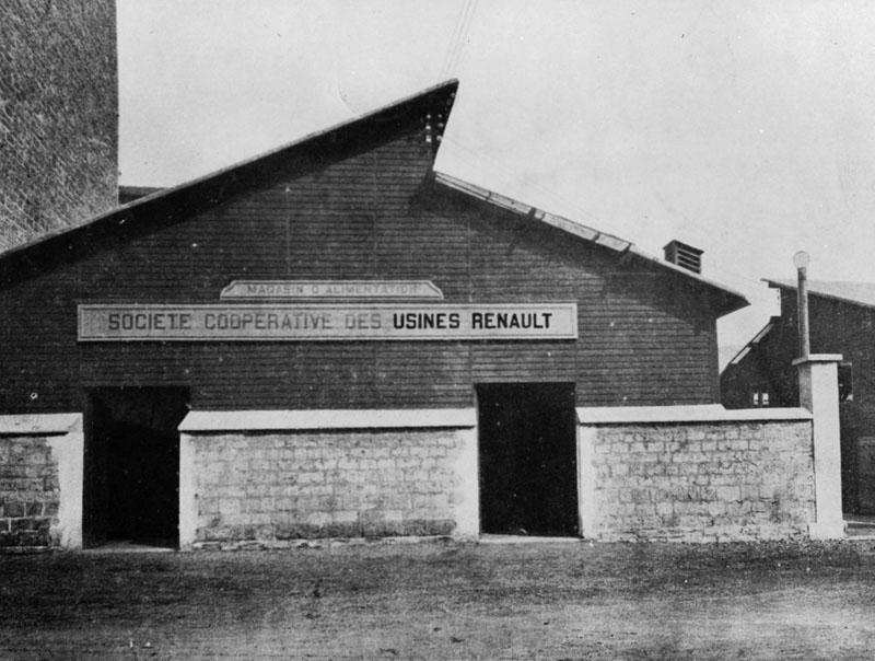Magasin de la coopérative Renault © Renault Histoire