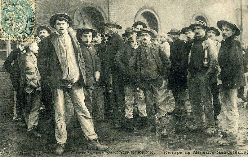 Catastrophe de Courrières - Groupe de Mineurs Sauveteurs