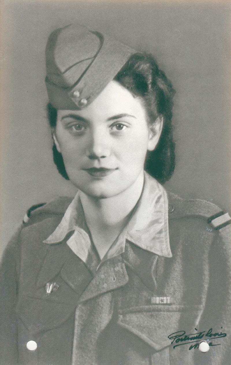 Irène Desmond, la soeur de Robert, vers 1945 © Archives privées Desmond - Tous droits réservés