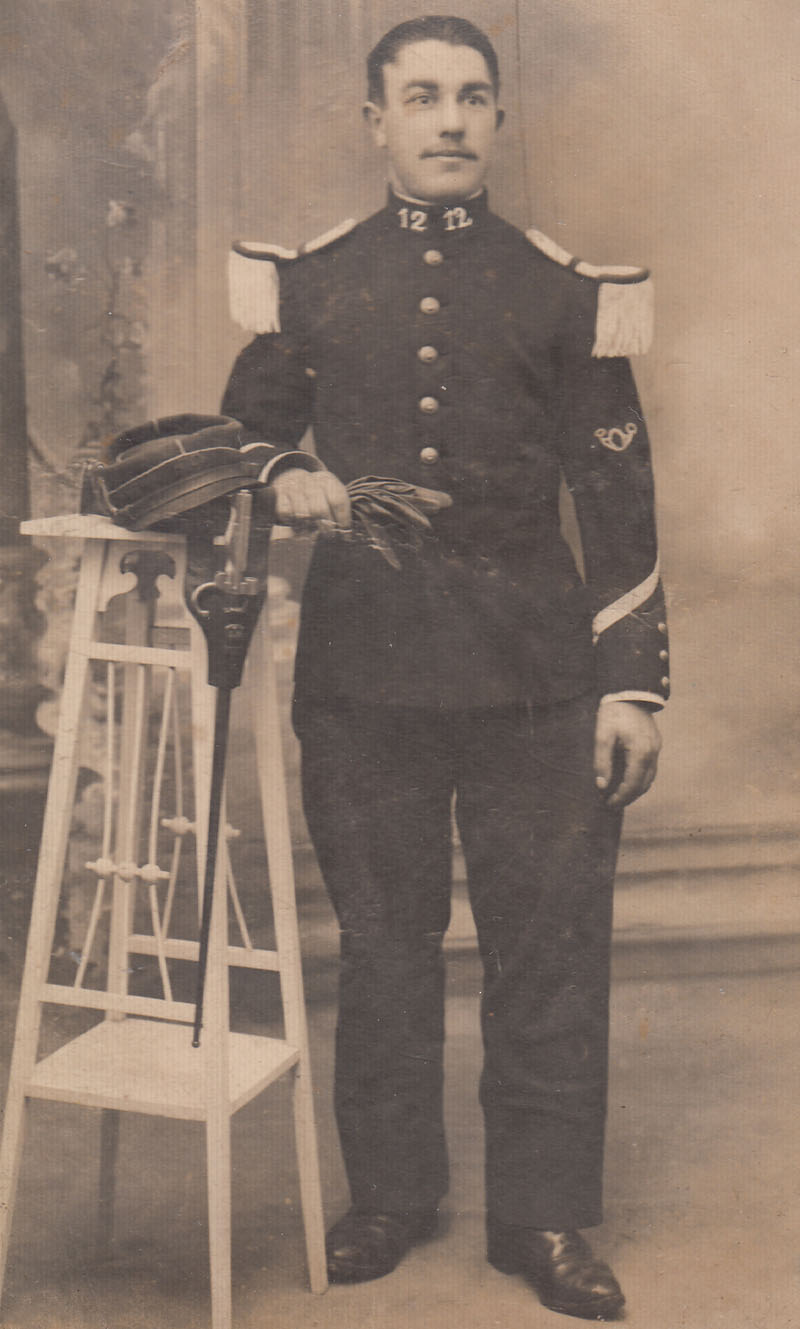 Jean Desmond, le père de Robert, pendant la Grande Guerre © Archives privées Desmond - Droits réservés
