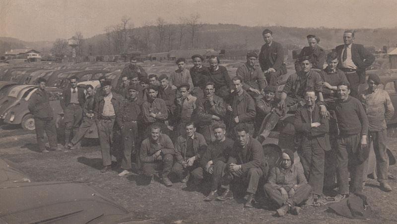 Corps franc Gambetta - Libération du camp de Matha en Charente-Maritime vers le mois de septembre 1945 © Archives privées Desmond - Tous droits réservés