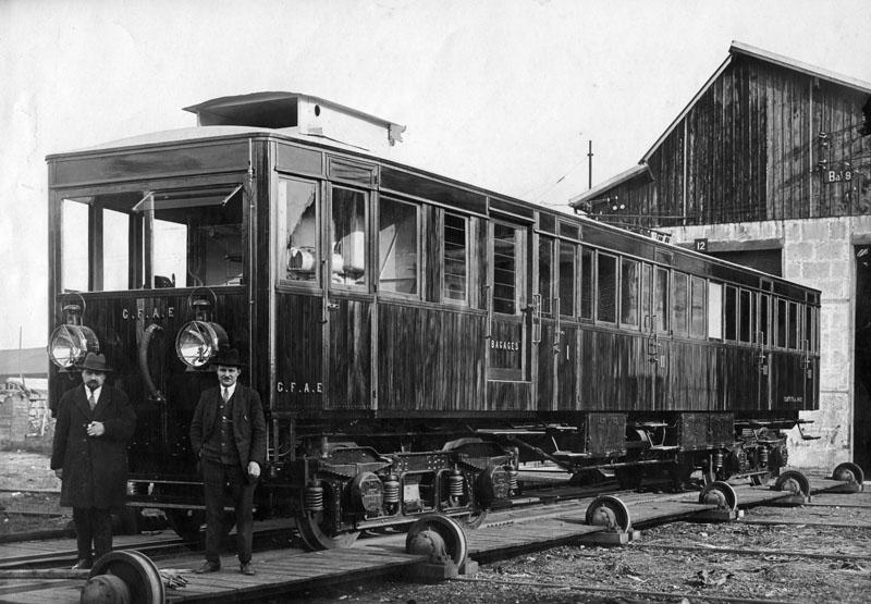 Autorail Renault PF des Chemins de fer algériens de l'Etat - 28 mars 1927 © SHGR