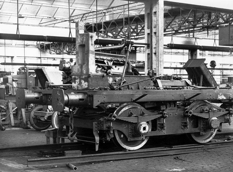 Bogie d'automotrice KE le 17 mai 1925 © SHGR