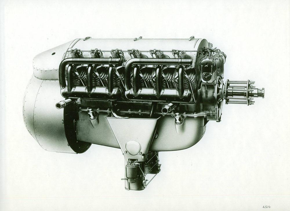 Moteur d'aviation 130 cv 12 cylindres - 1915 © APR Droits réservés