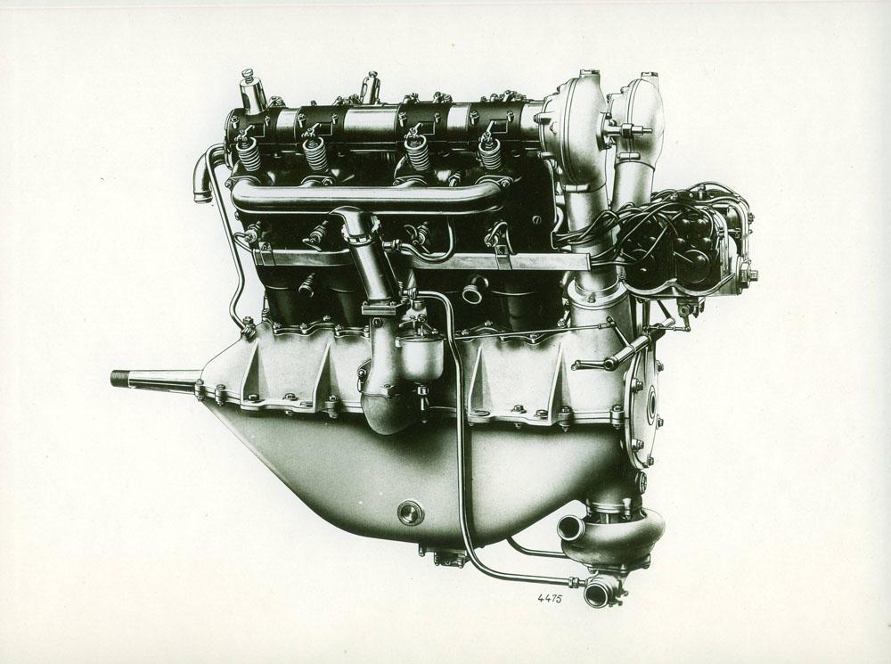 Moteur d'aviation 150 cv 8 cylindres - 1916 © APR Droits réservés