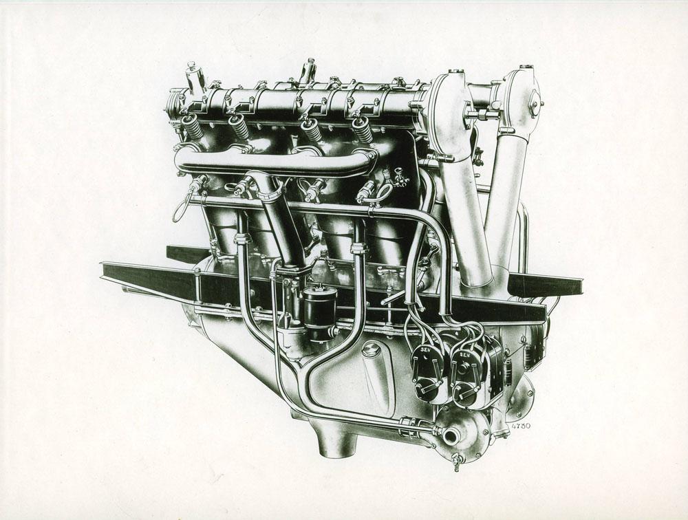 Moteur d'aviation 190 cv 8 cylindres - 1917 © APR Droits réservés