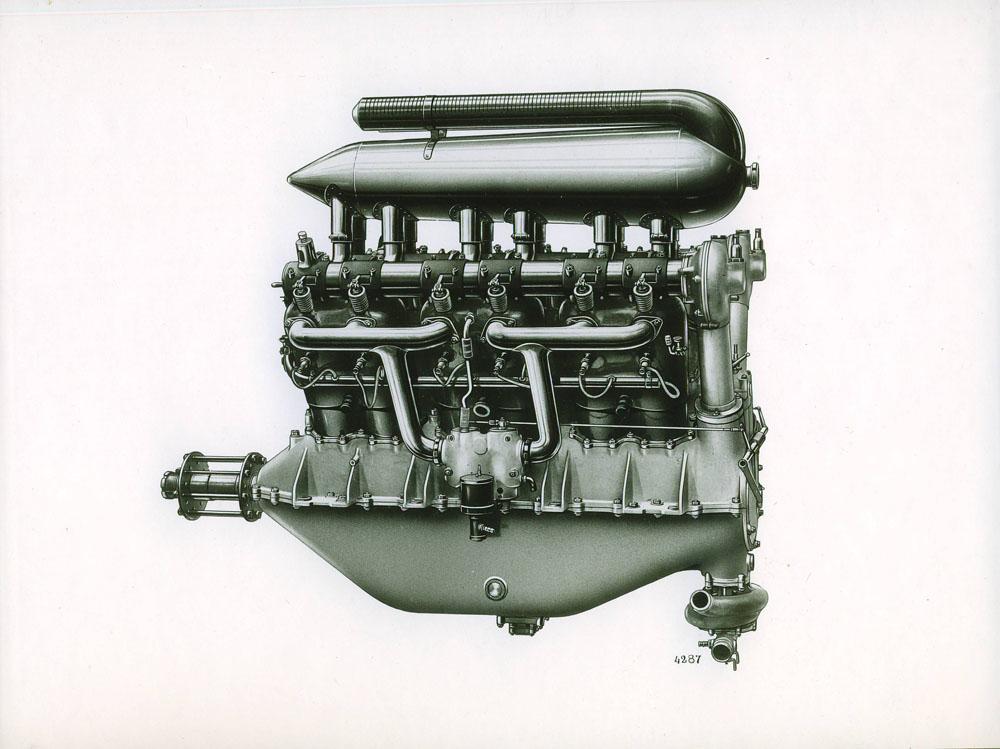 Moteur d'aviation 220 cv 12 cylindres - 1915 © APR Droits réservés