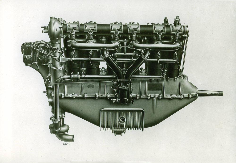 Moteur d'aviation 300 cv 12 cylindres - 1917 © APR Droits réservés
