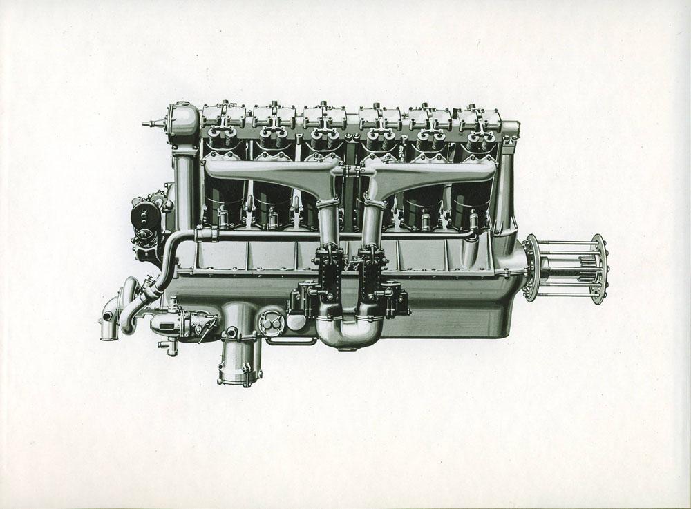 Moteur d'aviation 400 cv 12 cylindres du concours d'endurance © APR Droits réservés