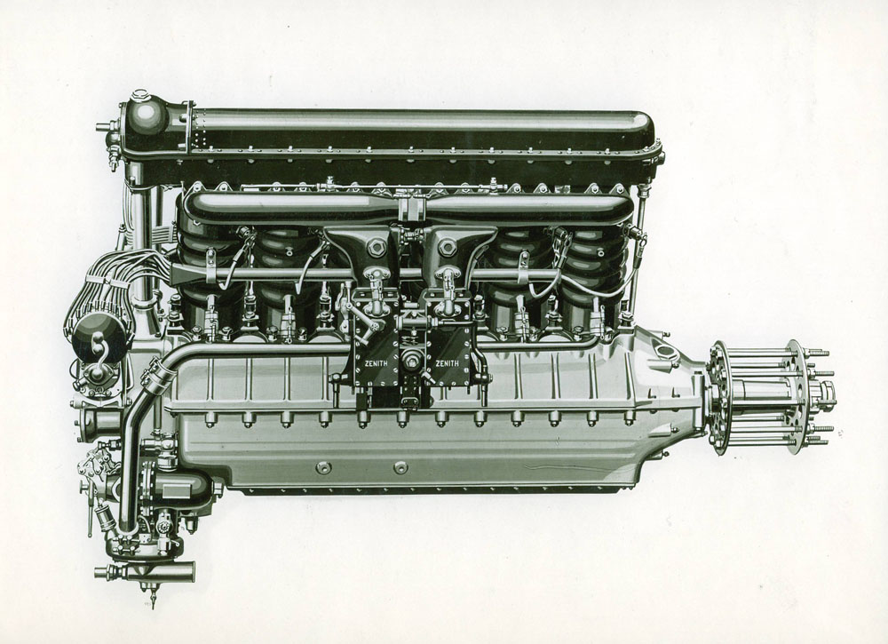 Moteur d'aviation 450 cv 12 cylindres © APR Droits réservés