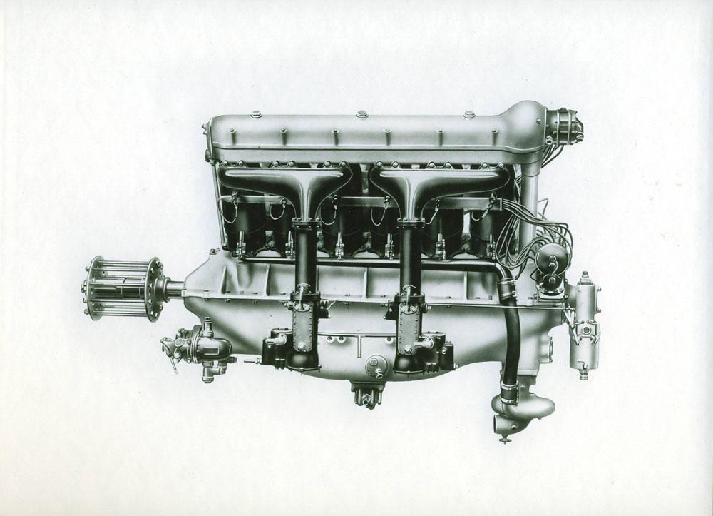 Moteur d'aviation 480 cv 12 cylindres © APR Droits réservés