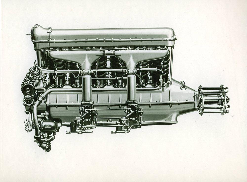 Moteur d'aviation 550 cv 12 cylindres © APR Droits réservés