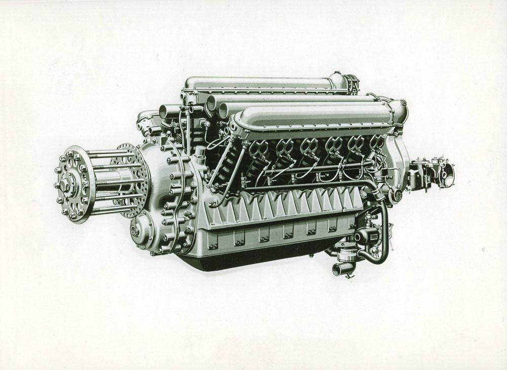 Moteur d'aviation 750 cv 18 cylindres © APR Droits réservés
