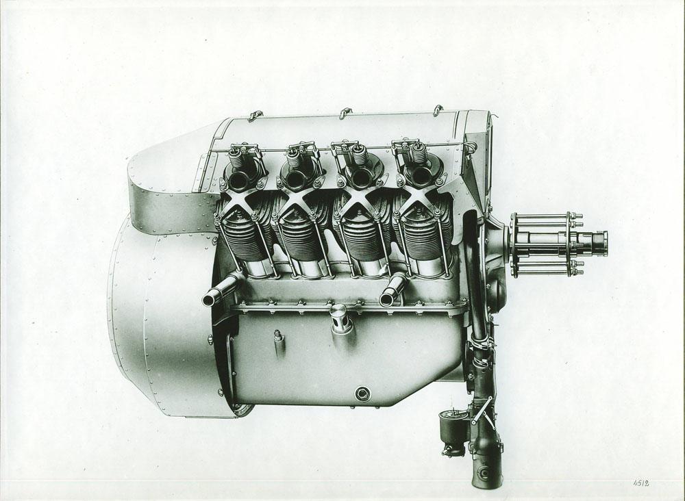 Moteur d'aviation 80 cv 8 cylindres - 1914 © APR Droits réservés