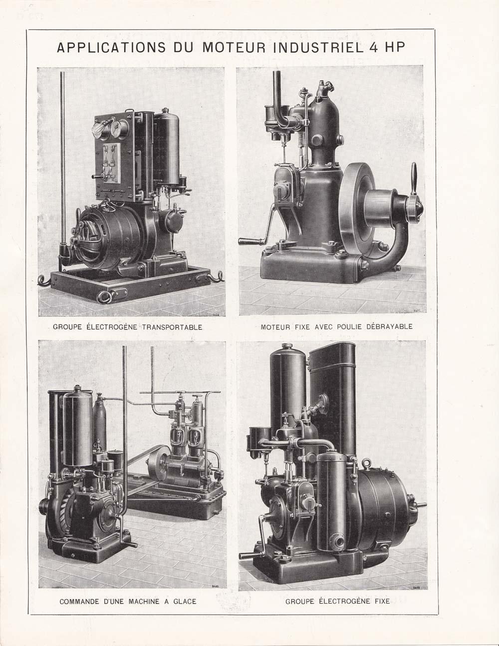 Moteur industriel 4 HP monocylindrique à essence © APR Droits réservés