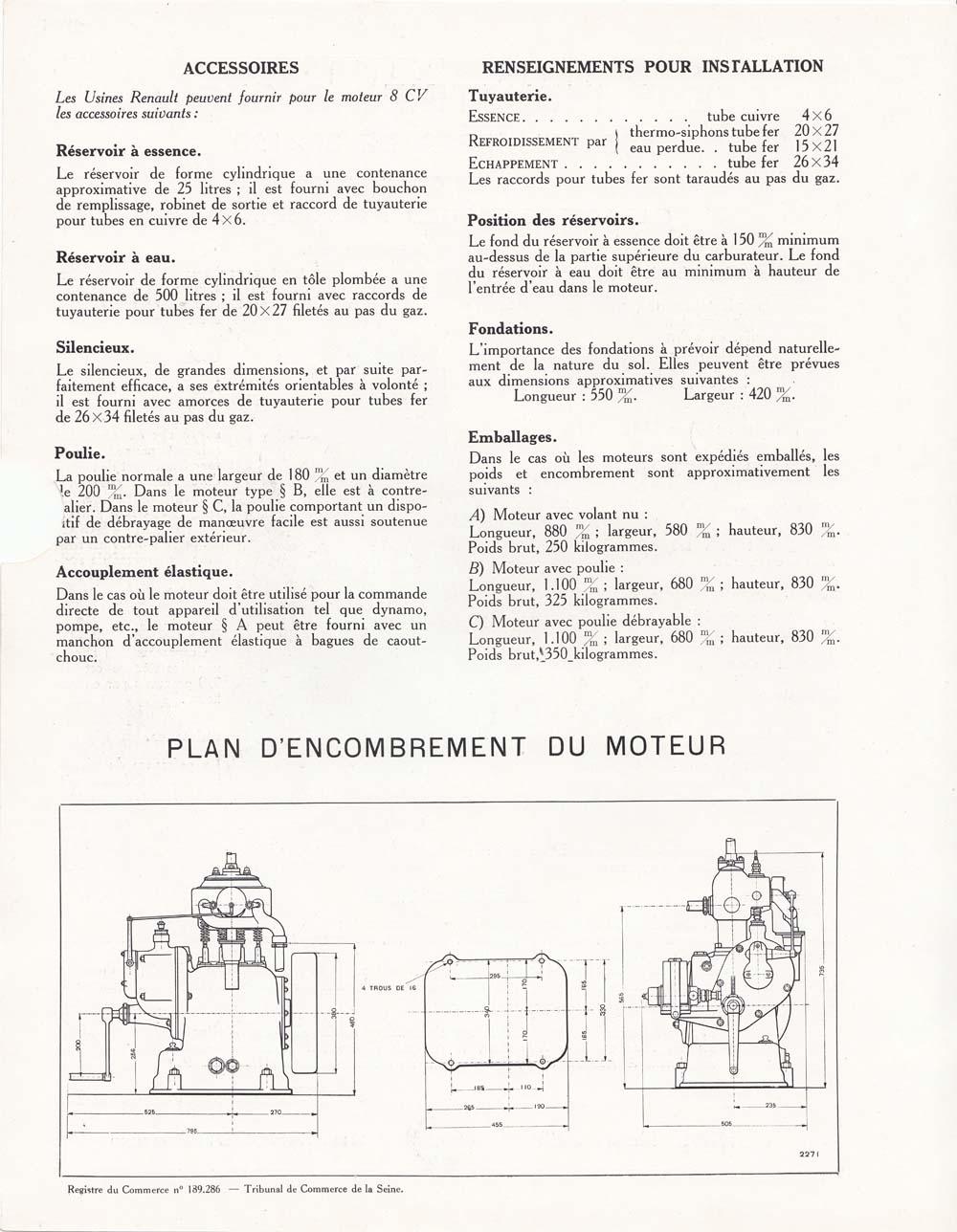 Moteur industriel 8 cv à 2 cylindres © APR Droits réservés