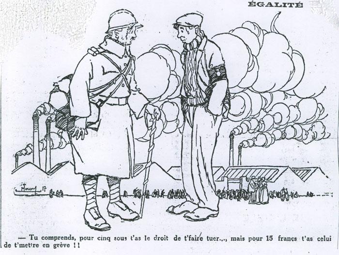 Les embusqués*, L'Oeuvre du 21 janvier 1917