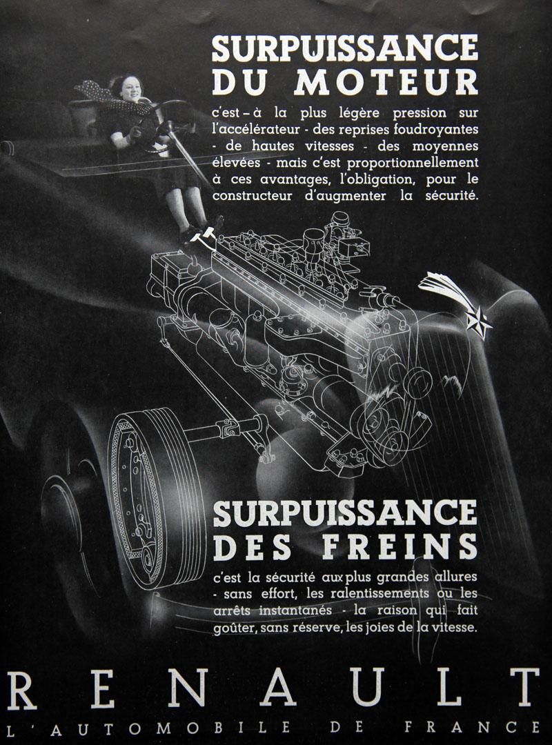 Surpuissance du moteur... Surpuissance des freins