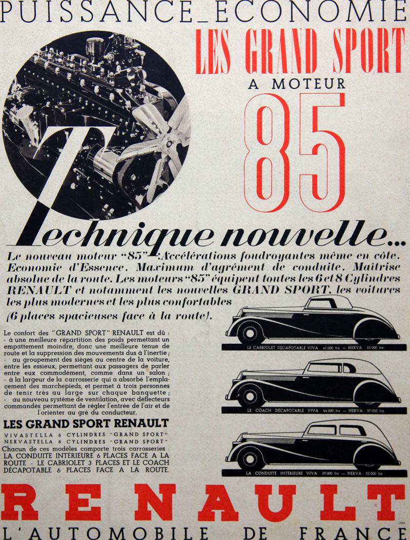 Les Grand Sport à moteur 85