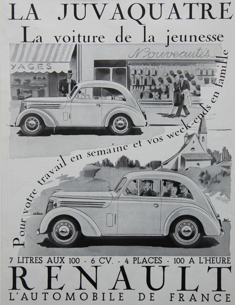 La Juvaquatre, la voiture de la jeunesse - 1938
