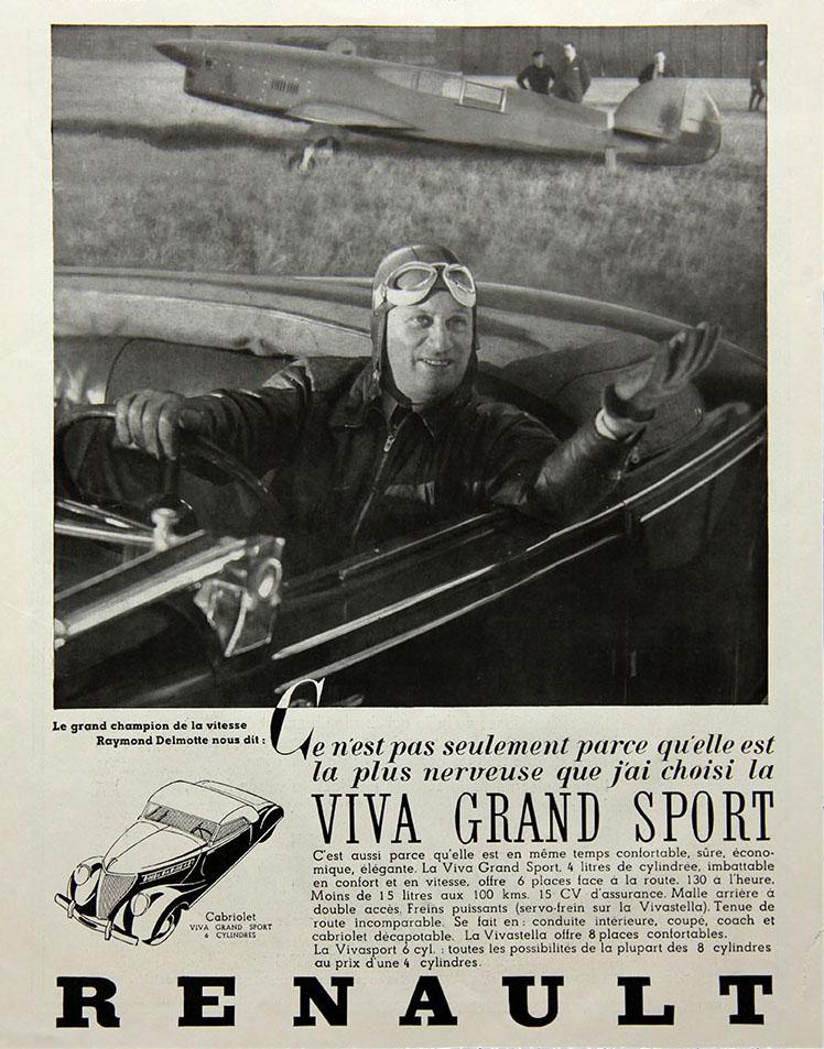 Raymond Delmotte au volant d'une Viva Grand Sport - 1936