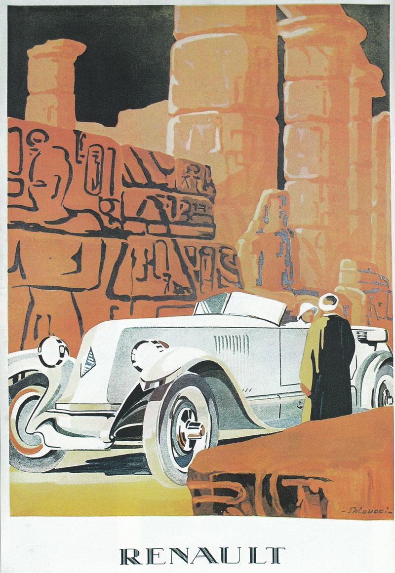 Affiche publicité Renault par Faloucci