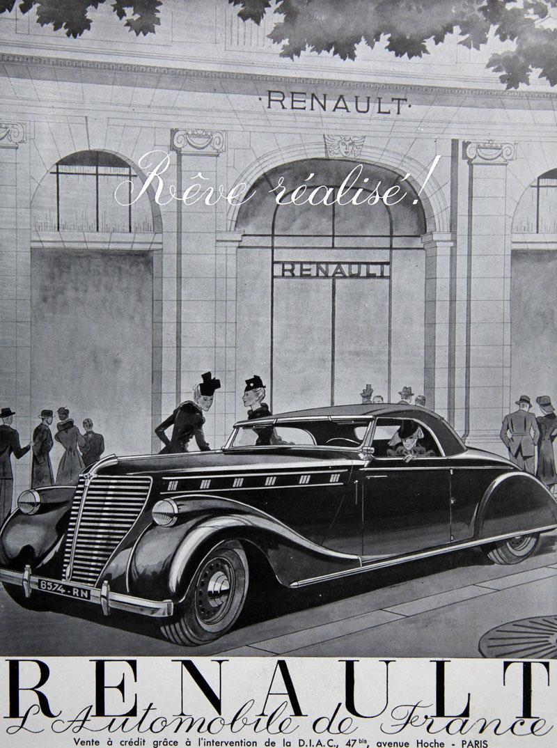 Rêve réalisé ! Renault l'automobile de France - avril 1939