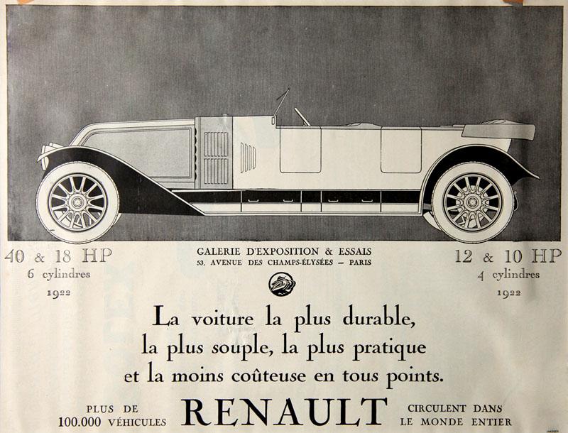 La voiture la plus durable, la plus souple... 1922