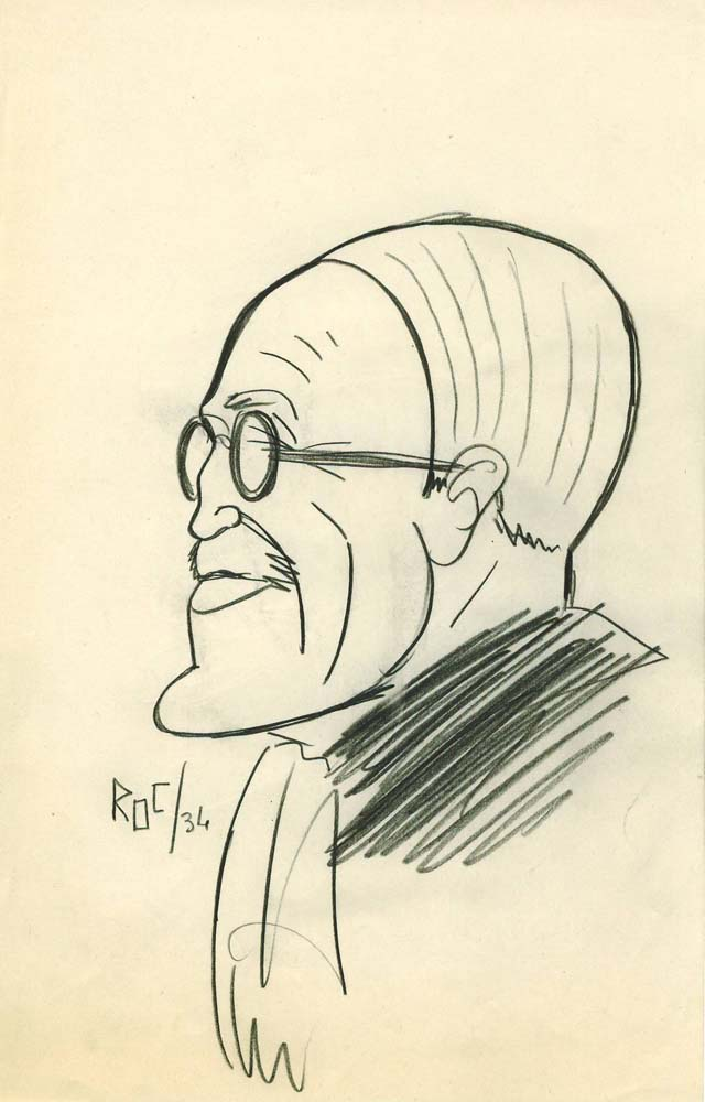 Caricature, sans titre, Roc, 1934 © Archives privées Renault