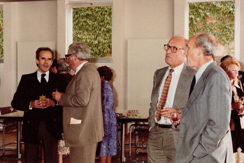 Au cercle, assis à la droite de Georges Besse © Roger Vacher