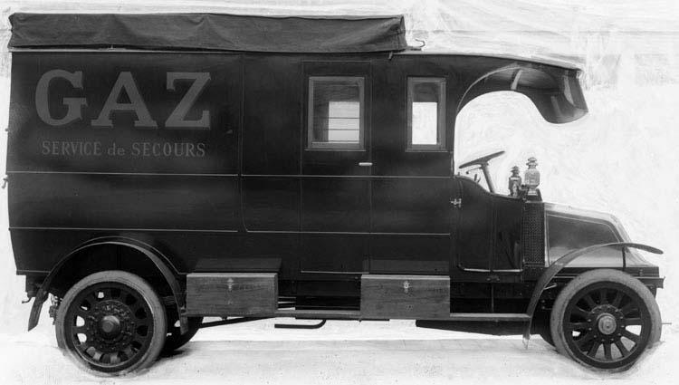 Fourgon Renault type CJ 16 Cv 3 tonnes 1911 © Renault communication / PHOTOGRAPHE INCONNU (PHOTOGRAPHER UNKNOWN) DROITS RESERVES