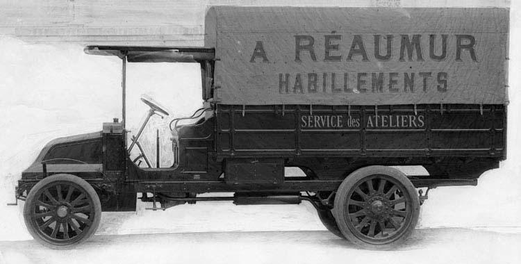 Camion Renault type CJ 16 cv 3 tonnes  1913 © Renault communication / PHOTOGRAPHE INCONNU (PHOTOGRAPHER UNKNOWN) DROITS RESERVES